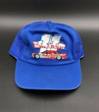 Vintage Bill Elliott #11 Budweiser Car Blue Mesh Trucker Race Hat NASCAR Cap
