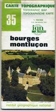 Carte Topographique IGN France 1:100000 35 Bourges Montluçon