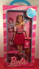 2008 Barbie Holiday Surprise Doll Blond Hair Blue Eyes Only At Target NIB