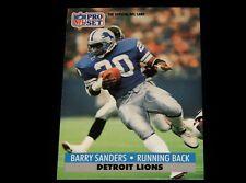 Vintage NFL Football Card, 1991 PRO SET, DETROIT LIONS, Barry Sanders, # 502, RB