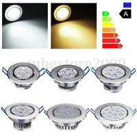 9/12/15/21/27/36/45W LED Dimmable Recessed Ceiling Panel Down Light Lamp 85-265V