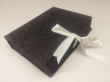 5 x 7 Black Wedding Engagement Photo Image Box Elegant Floral Print 100 Print