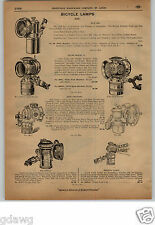 1913 PAPER AD 3 PG Gas Oil Bicycle Lamp Lamps 20th Century Solar Columbia Search