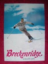 ORIGINAL BRECKENRIDGE COLORADO 1960's SKI POSTER Kneissl Skis Skier VINTAGE LOOA
