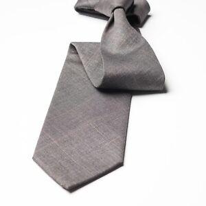 Terracina Grey Check Wool Tie Italy Made