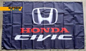 Honda Civic Flag Banner (3x5 ft) Beer JDM Garage