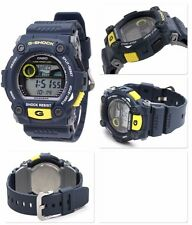 G-7900-2 Blue Casio Men's Watch G-Shock Mineral Glass Digital 200m Resin Band