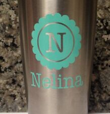 Custom Decal with your Initial and Name For Your Yeti Rambler Tumbler Colster
