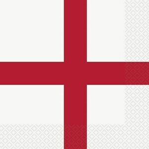 St George's Cross Paper Lunch NAPKINS Buffet Street Party England Red White