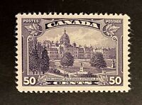 Canadian Stamps, Scott #226 50c 1935 - VF/XF Hinged remnant (see photos) Fresh