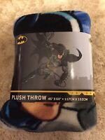 NEW DC Comics Batman Plush Fleece Bedding Blanket Throw