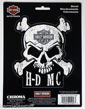 Harley-Davidson Skull Crossbone H-D MC Sticker Decal NEW