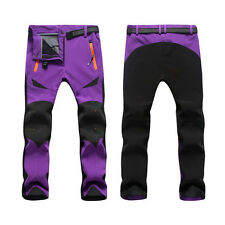 News Men Women Breathable Shell Outdoor Pants Thick Sugan Velvet Hiking Trousers