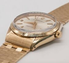 Vintage Rolex Oyster Perpetual Ref 1002 9K Solid Gold Bracelet Watch Circa 1965