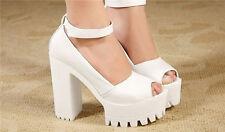 Women Pumps Platform Strappy Buckle Stiletto High Heels Sandals Shoes Hot Sale
