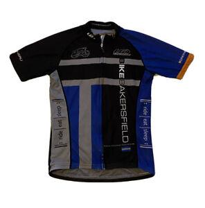 Louis Garneau Cycling Jersey Bicycling Shirt Blue Sports Small
