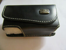 Scala black leather Universal pouch case waist belt clip