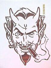 Devil Smoking Cigar Reusable Stencil 10 mil Mylar