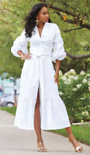 Ashro White Summer Wedding Vacation Farah White Dress 10 12 16 16W 20W 22W 24W