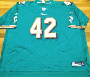 REEBOK NFL EQUIPMENT MIAMI DOLPHINS CHARLES CLAY HOME JERSEY SIZE 6XL
