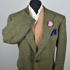 De Colección Harris Tweed Hacking Chaqueta Verde país a medida 48S #668 prenda prístina