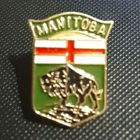 MANITOBA, COAT OF ARMS,TRAVEL PIN, Hat Pin, Canada, Lapel Pin