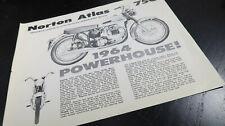 1964 Norton Atlas 750 Motorcycle brochure