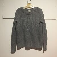 Old Navy Women's Sweater Small Pullover Cable Knit Long Sleeves Gray