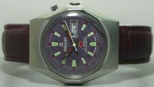 Vintage Ricoh Automatic Day Date Mens Stainless Steel Wrist Watch Old Used s405