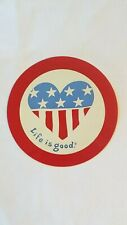 "New Life Is Good 4"" Sticker Decal.American flag/ 4th of July!"