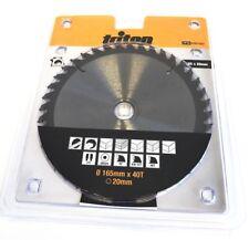 Triton Plunge Circular Saw Blade 165mm x 20mm x 40T Tracked EN847-1 Cut Cutting