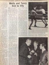N5a Ephemera 1989 Boxing Article Wells Ken Buchanan Walter Mcgowen