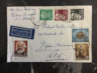 1953 Lubben East Germany DDR Airmail Cover  To Ripon WI USA