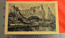 STAMPA ROSA RUBBER STAMP N 59-673 MOUNTAINS RIVVER BOAT TROPICAL