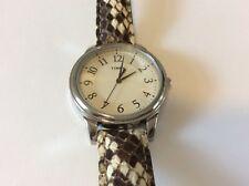 New Men's  Timex Snakeskin quartz watch Fresh battery