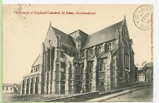 VINTAGE 1907 PRIVATE POST~ St. JOHN'S, Newfoundland~ Church of England Cathedral