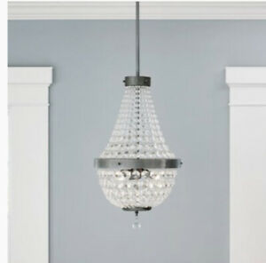 Portfolio Empire Style Chandalier Antique Pewter Finish