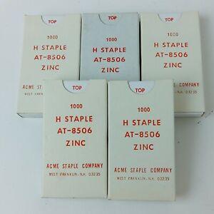 """Vintage Acme Staple Company Zinc """"H"""" Staples AT-8506 5000 Count"""