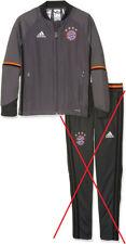 adidas Kinder FC Bayern München Trainingsjacke: Granite/Solar Red Grey, 140