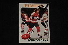 HOF BOBBY CLARKE 1975-76 TOPPS SIGNED AUTOGRAPHED CARD #250 PHILADELPHIA FLYERS