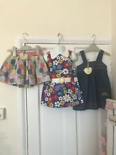 STUNNING LITTLE BIRD DRESS, PINAFORE AND SKIRT, 9-12 MONTHS NEW WITH TAGS, RARE
