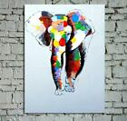Handmade Oil Painting Colors Elephant on Canvas Modern Home Decoration