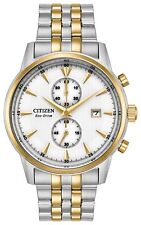 Citizen Eco-Drive Men's Corso Chronograph Two-Tone 43mm Wrist Watch CA7004-54A