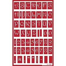Over n Over Self Stick Reusable Glass Etching Stencils  ~ Alphabet Uppercase