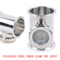 4'' Tri Clamp Tee Section + 3'' Union Sight Glass Length 6'' 304 Stainless Steel