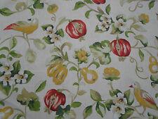 Sanderson Curtain Fabric 'Pear & Pomegranate' 3 METRES Lemon/Vermillion - Linen