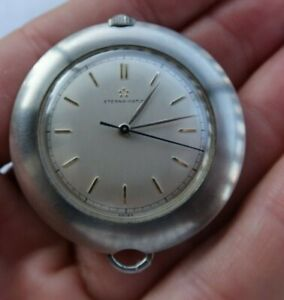 Vintage Eterna Matic Automatic Pendant Necklace Watch Working Swiss 17Jewels NR