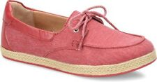 BOC Womens Bailey Canvas Top Sider Size 6M Lace Shoes Red