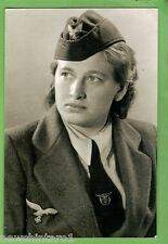 #K22. WWII MODERN PHOTOGRAPH OF GERMAN LADY IN UNIFORM