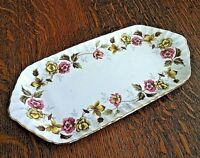Vintage Bread Plate Romance Duchess Floral Platter Bone China Scalloped Gold